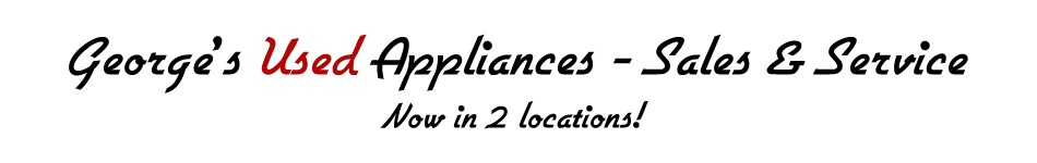 George's Used Appliances Sales and Service